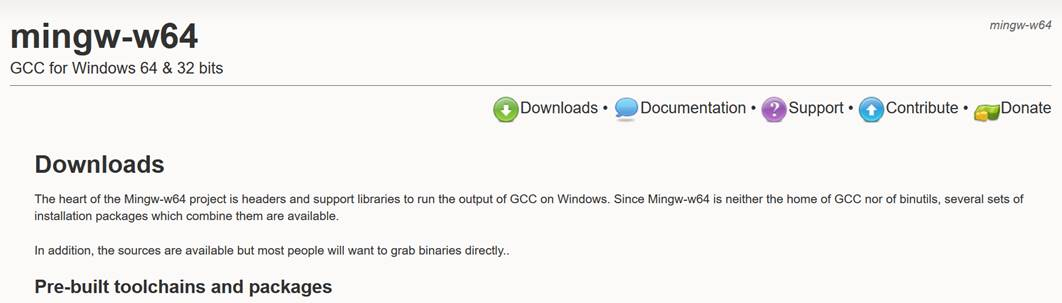 MinGW-w64のインストール