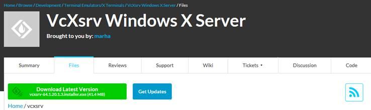 VcXsrv Windows X Serverのインストール